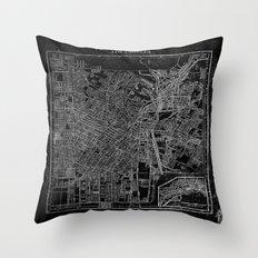 Los Angeles, California, Circa 1908. Throw Pillow