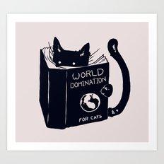 World Domination For Cat… Art Print