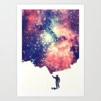 sky Art Prints featuring Painting the universe by badbugs_art