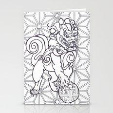 Japanese lion dog  Stationery Cards