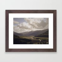 Toutle River Valley Framed Art Print