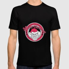 Santa's Apparel Mens Fitted Tee Black SMALL