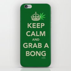 Keep calm and grab a bong iPhone & iPod Skin