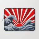 Great Wave of the Rising Sun Laptop Sleeve