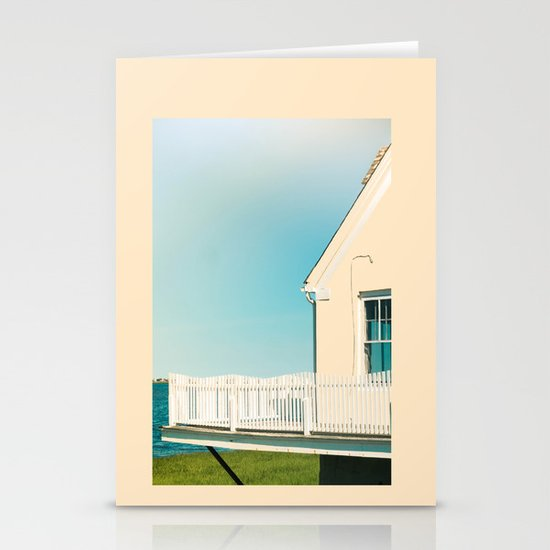 Cottage by the sea Stationery Card
