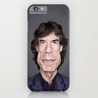 iPhone Cases featuring Celebrity Sunday ~ M ick Jagger by Rob Snow
