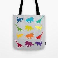 Dino Parade 2 Tote Bag