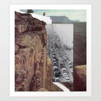 Road Block Art Print
