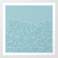 Ab Outline Grid Salty Art Print