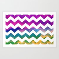 Lucky Chevron Art Print