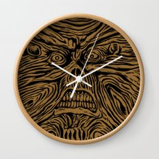 book looks like a face Wall Clock