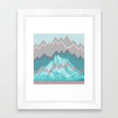 FLAT RELIEF Framed Art Print