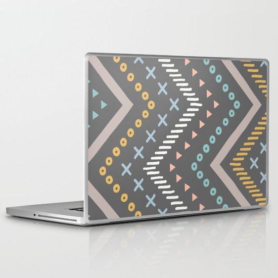 Mixed Zig Zag - in Charcoal Laptop & iPad Skin