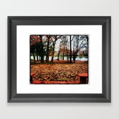 Orange Fall Day Framed Art Print