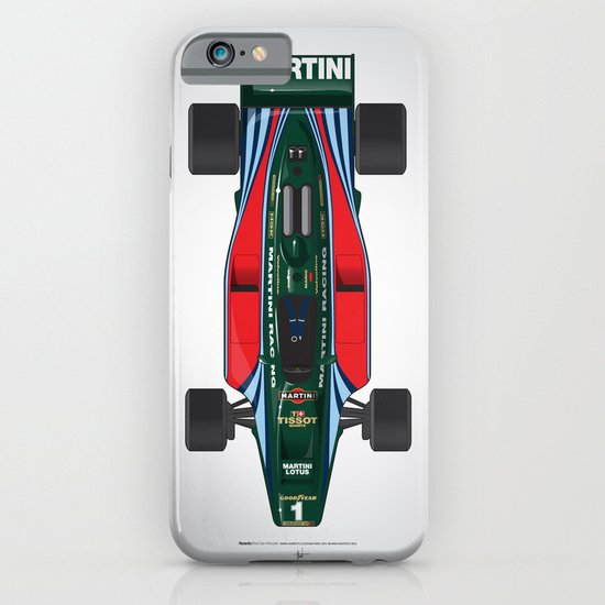 Outline Series N.º2, Mario Andretti, Lotus 80-Ford 1980 iPhone & iPod Case