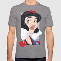 Snow White scared in the Haunted Forest Mens Fitted Tee Tri-Grey SMALL