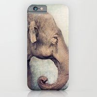 iPhone & iPod Case featuring The smiling Elephant by Pauline Fowler ( Polly470 )