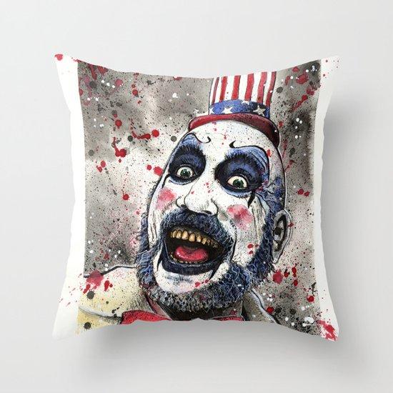 Captain Spaulding -The Devil's Rejects Throw Pillow