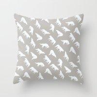 Wild Wolves Pattern Throw Pillow