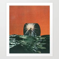 Black Waters Art Print