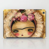 Frida In A Brown And Green Tehuana Mexican Traditional Dress iPad Case