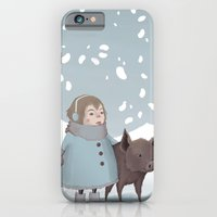 Pig In Snow iPhone 6 Slim Case