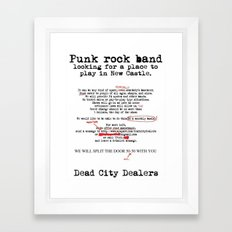 Punk Rock Band Framed Art Print