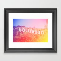 Colorful Hollywood Sign  Framed Art Print