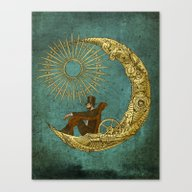 Canvas Print featuring Moon Travel by Eric Fan