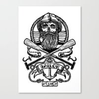 SAILOR SKULL Canvas Print
