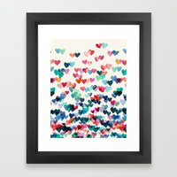 Heart Connections - Wate… Framed Art Print