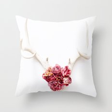 Floral Antlers III Throw Pillow