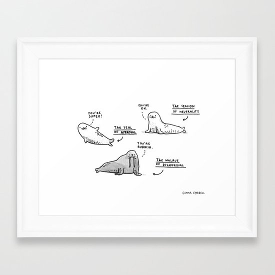 The Seal of Approval and Friends Framed Art Print
