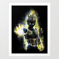 DBZ Inspired Epic Vegeta… Art Print