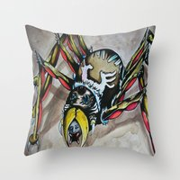 Black Widow  Throw Pillow