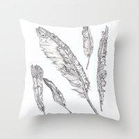 Swedish Feathers Throw Pillow