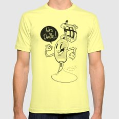 Let's Doodle! Mens Fitted Tee Lemon SMALL