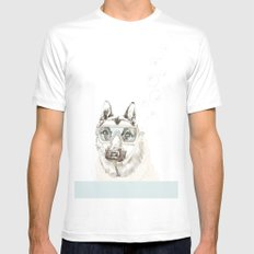Diver Dog Mens Fitted Tee SMALL White