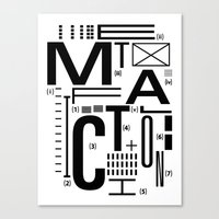 METAL FICTION Canvas Print
