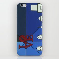 blue LOVE shine iPhone & iPod Skin