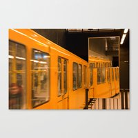 U-Bahn Mirror Canvas Print