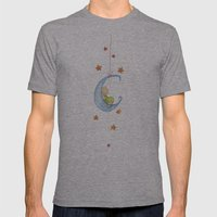 Baby Moon Mens Fitted Tee Athletic Grey SMALL