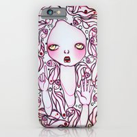 iPhone & iPod Case featuring Ruby and Her Mane of Goldfish by Braidy Hughes