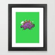 Steakosaurus Framed Art Print