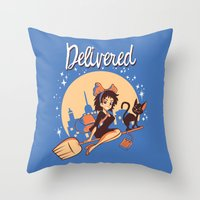Delivered Throw Pillow