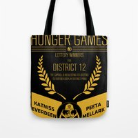 74th annual hunger games poster Tote Bag