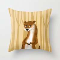 Otter Throw Pillow