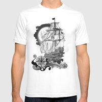 The Sea Route To The Moo… Mens Fitted Tee White SMALL