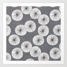 Umbrellas by Friztin Art Print