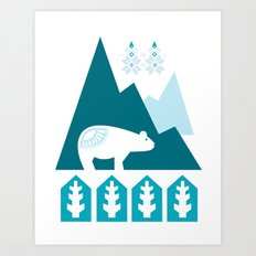 Heart the Polar Bear Art Print
